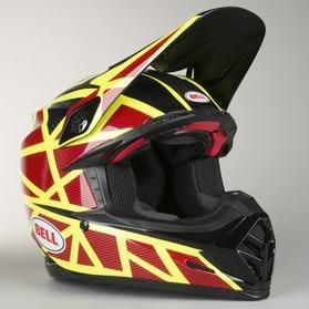 Crossová Helma Bell Moto-9 Flex Strapped Žlutá-Červená