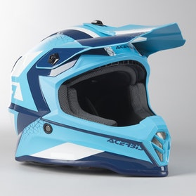 Motokrosová Helma Acerbis Steel Dětská Modro-Bílá