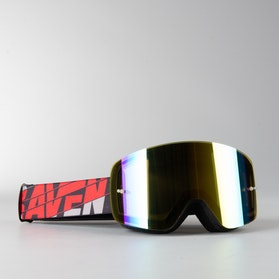 "Raven Edge ""Heat"" MX Goggles Gold Mirror Double Lens"