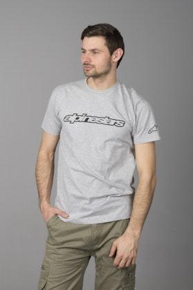 T-Shirt Alpinestars Authority Wordmark Szary
