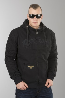 West Coast Choppers Aramid Por Vida Riding Hoodie Black