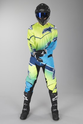 Alpinestars TechStar Venom MX Kit Fluorescent Yellow-Cyan-Dark Blue