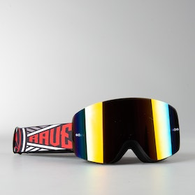 "Raven Edge ""Comrade"" MX Goggles Red Mirror Double Lens"