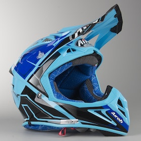 Airoh Aviator 2.2 Check Cross-Helmet Blue Gloss