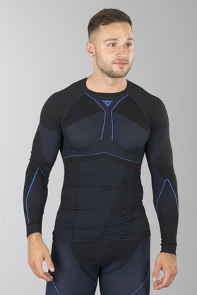 Koszulka Termoaktywna Dainese D-Core Areo Czarno-Niebieska