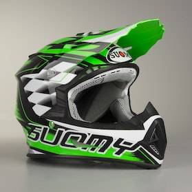 Kask Cross Suomy Rumble Strokes Zielony