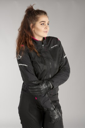 Acerbis Ramsey Vented Women's Jacket Black-Fuchsia