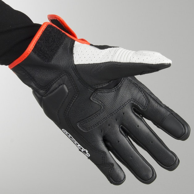 Alpinestars Celler V2 Gloves - Black-White-Flourescent Red