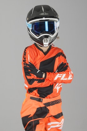 Bluza Cross JT Racing Flex Hi-Lo Dziecięca Pomarańczowo-Czarna