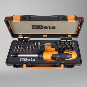 Beta Tools Ratchet Bit Holder with Bits