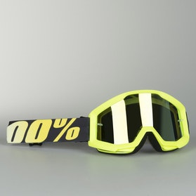 100% Strata Goggles Yellow