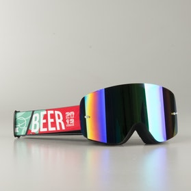 "Raven Edge ""Beer"" MX Goggles Green Mirror"