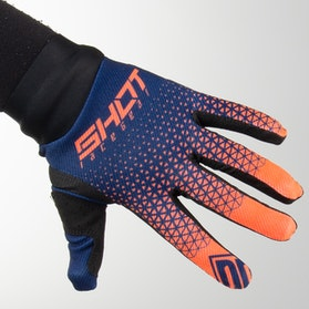 Shot MX Gloves Blue-Neon-Orange
