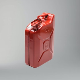 Never Stop Sheet Metal Jerry Can 10L Red