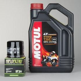 Olej syntetyczny  7100 4T 10W40 4L+filtr oleju