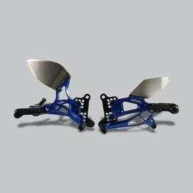 Zestaw Dźwigni i Podnóżków do Odwrócenia Zmiany Biegów Valter Moto Typ 2.5 Niebieski