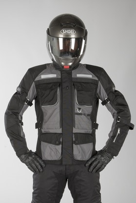IXS Tour Montevideo-ST Jacket Grey-Black
