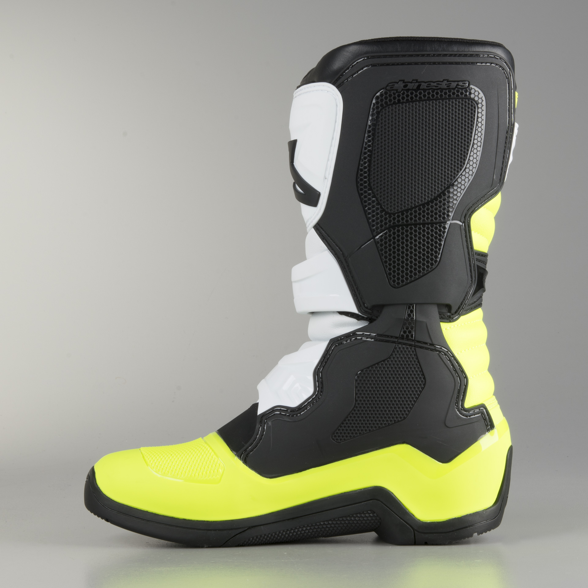 Alpinestars Tech 3S Youth Boots-Black//White//Yellow Fluo-2