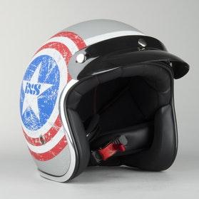IXS HX89 American II Helmet Matt-Titanium