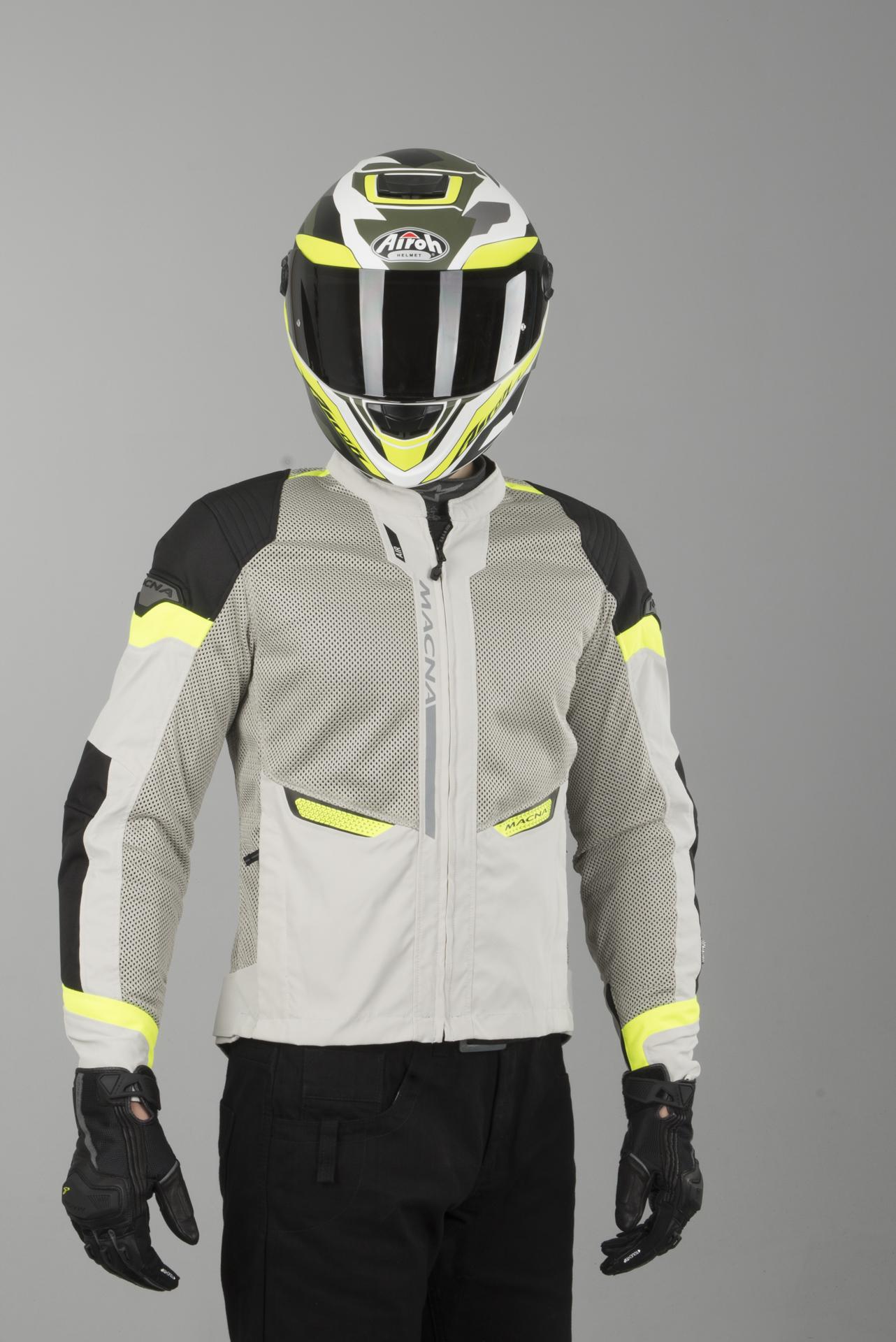 Macna Event Night Eye Black Neon Yellow Mesh Motorcycle Jacket Free Shipping