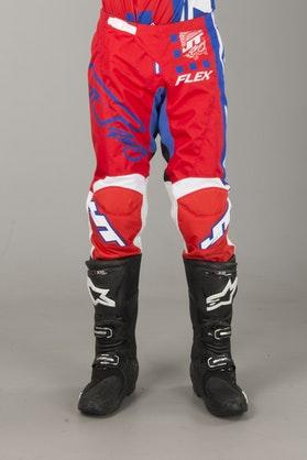 Spodnie Cross JT Racing Flex Exbox Czerwono-Niebiesko-Białe