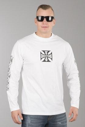 Koszulka West Coast Choppers OG Cross Długi Rękaw Biała