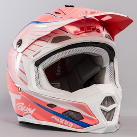 JT Racing ALS 2.0 Helmet Red, White & Blue