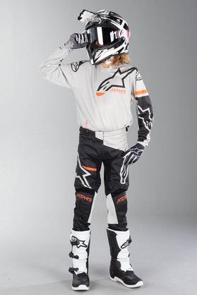 Alpinestars Racer Compass Kid's MX Clothing Light Gray-Black