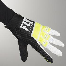 FLY Evo MX-Gloves - HiVis-Black-White