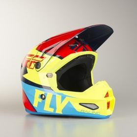 FLY Elite Guild Children's MX Helmet Red-HiVis