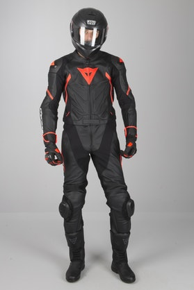 Dainese Avro D2 2-Piece Leathers Black-Red