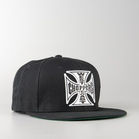 Czapka West Coast Choppers Og Cross Flatbill Snapback Czarna