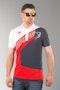 Koszulka Polo Bering Racing Homme Biało-Czerwono-Czarna