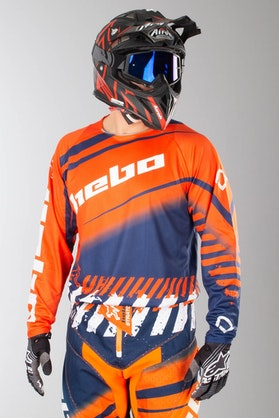 Bluza Cross Hebo Stratos Enduro-Cross Pomarańczowa