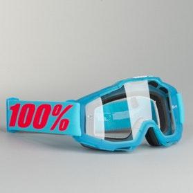 Gogle Cross 100% Accuri Acidulous Cyjanowo-Niebieskie