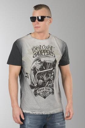 T-Shirt West Coast Choppers F... You Vintage Szary