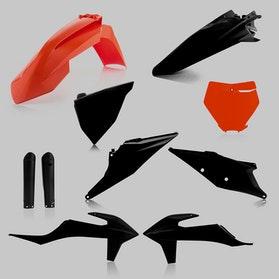 Komplet Plastików Acerbis Czarno-Pomarańczowy