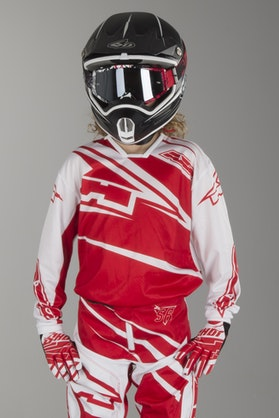AXO SR Youth MX Jersey White & Red
