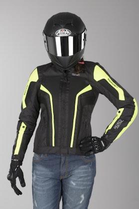 IXS Larissa Ladies' Jacket Black-Fluorescent Yellow