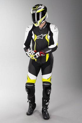 Kožená Kombinéza Alpinestars GP Force Černo-Bílo-Neonově Žlutá