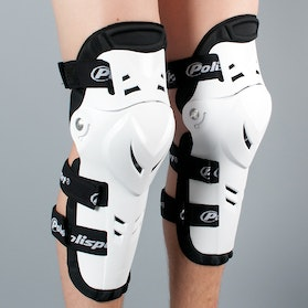 Polisport Devil Knee Guards White