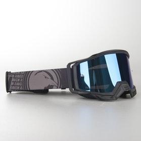 Raven Sniper The Villain MX Goggles Blue Mirror