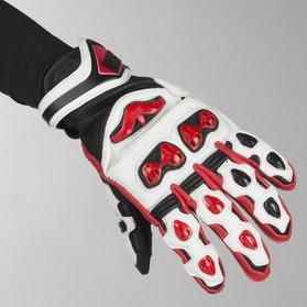 IXS Sport RS-400 Short Gloves Black-White-Red