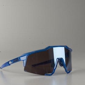 100% Speedcraft Polished Bicycle Glasses Translucent-Crystal Blue