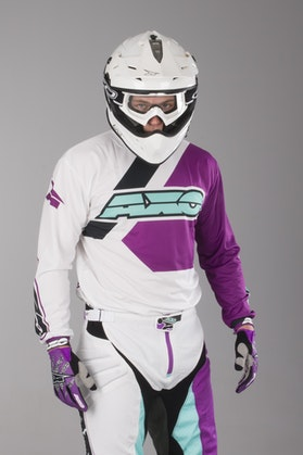 AXO Trans-Am Jersey White-Purple