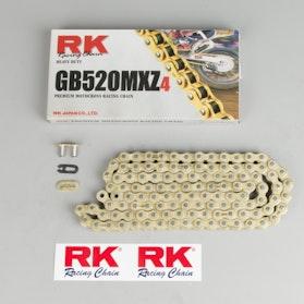 Łańcuch RK 520MXZ4 Racing Złoto-Czarny