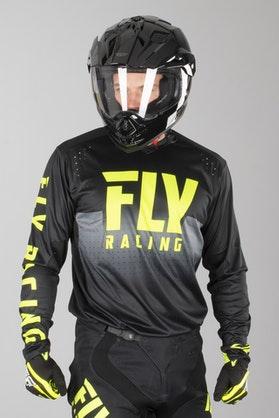FLY Light MX-Jersey - Black-HiVis