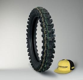 Dunlop Geomax MX-3S Tyre + Cap