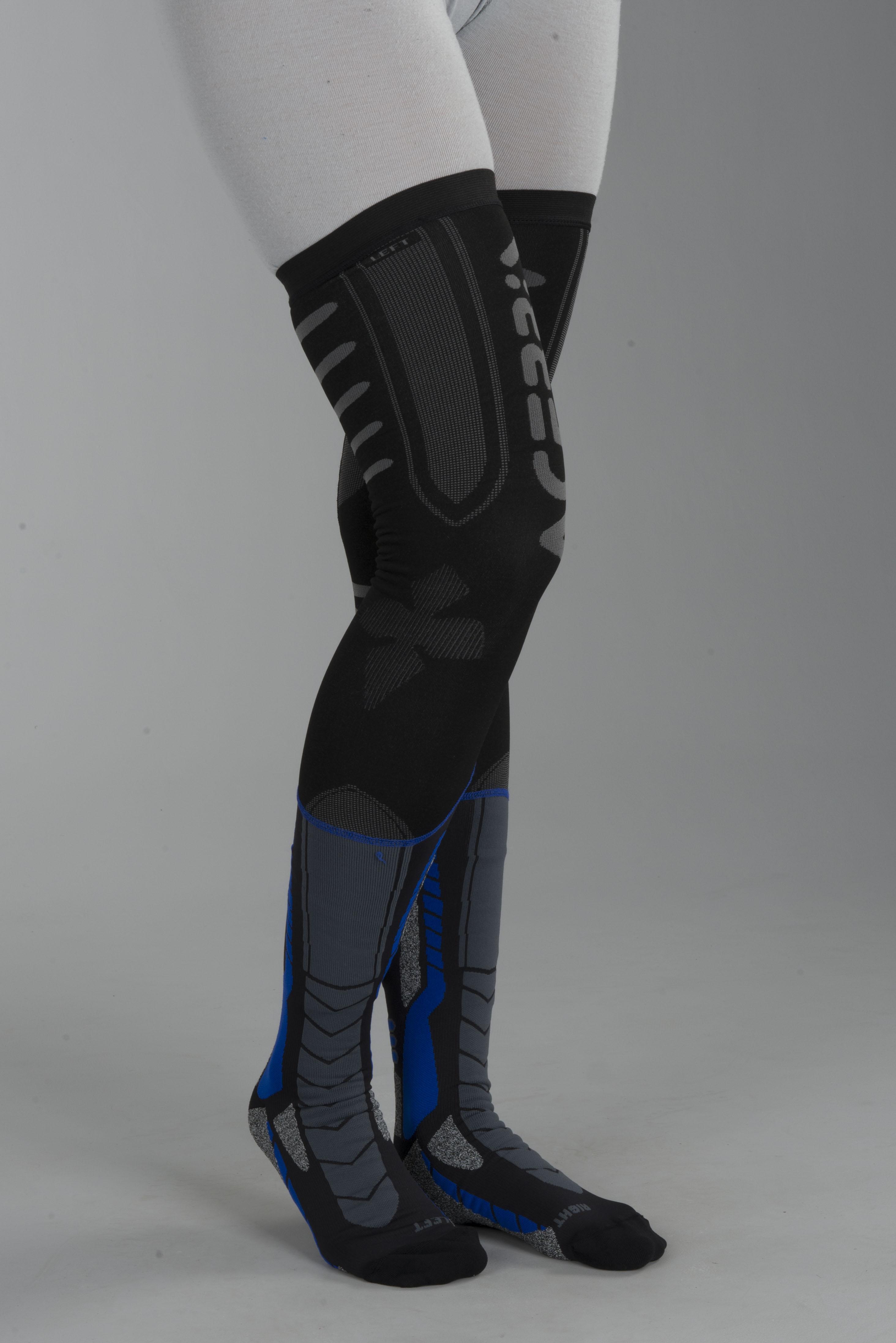Strumpor Acerbis X Leg Pro Svart Blå Nu 9% rabatt XLmoto.se