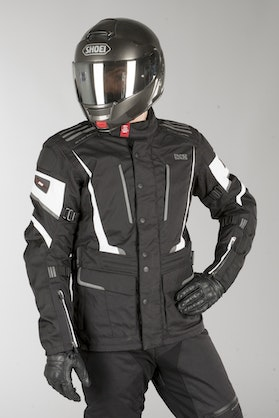 IXS Tour Powells-ST Long Jacket Black-White